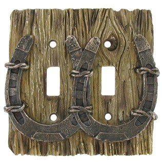 Cool Cowboy Horseshoe 3 D Double Light Switch Cover