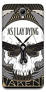 The Racoon Grip AS I LAY DYING hard plastic printed back case / cover for Alcatel Onetouch Idol X+