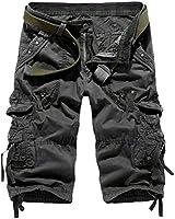 HEMOON Herren Savage Gladiator Cargo Shorts Bermudas Vintage Cargohose Knielang W30-W38