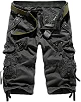 HEMOON Raw Vintage Homme Cargo Shorts style pantacourt bermuda