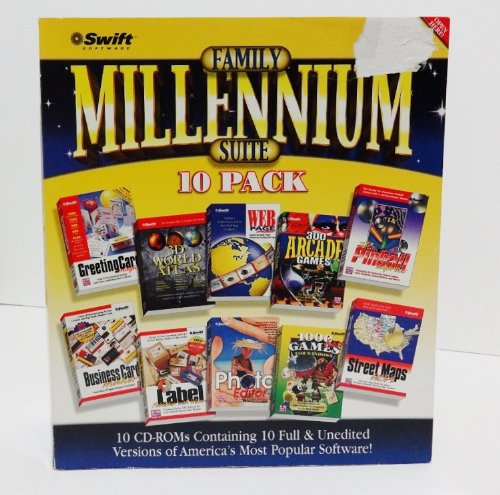 Family Millennium Suite 10 Pack Software CD-ROMs