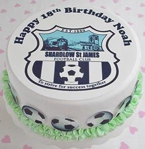 Any Football Team Football Club Team Badge/Logo set by Debs Kitchen Cakes 1 x 7.5