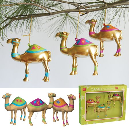DCI Pop Christmas Camel Ornaments, Set of 3