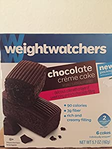 Weight Watchers - Chocolate Creme Cake - Chocolate filling - 6 cakes (Pack of 3)