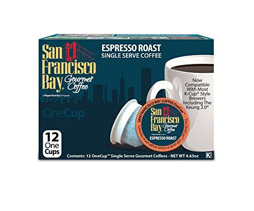 San Francisco Bay Coffee OneCup, Espresso Roast, 12 Count (Pack of 6) (San Francisco Bay Espresso Roast compare prices)