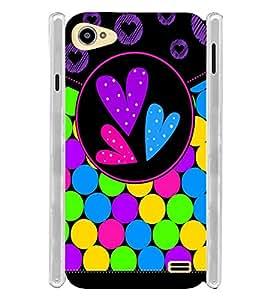Girl Multi Colour Love Soft Silicon Rubberized Back Case Cover for Intex Aqua Star 2 :: Intex Aqua Star II 16GB