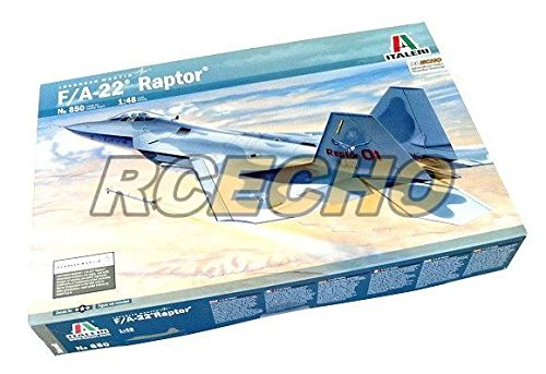 RCECHO-ITALERI-Aircraft-Model-148-FA-22-Raptor-Scale-Hobby-850-T0850-with-RCECHO-Full-Version-Apps-Edition