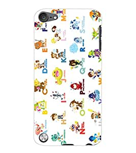 ColourCraft Alphabets Design Back Case Cover for APPLE IPOD TOUCH 5