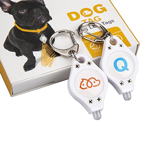 Petphabet the Best ABCs of Dog Leash/Collar LED Safety Light Tag for your Dog and Cat. Waterproof, Personalized & Fancy Collar. Clip on Harness. 2 Per Pack, 1 Logo & 1 Letter Q-Light Blue (Free Kin D compare prices)