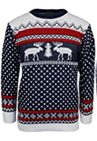 MEN'S XMAS NOVELTY KNITTED CHRISTMAS REINDEER SWEATER JUMPER(JMJ-0005)