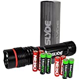 Nebo 6156 Slyde 250 Lumen LED flashlight/Worklight with 4 X EdisonBright AAA alkaline batteries. Dual light sources. Magnetic Base