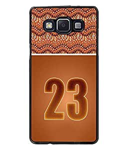 PrintDhaba Numerology Number 23 D-3658 Back Case Cover for SAMSUNG GALAXY E5 (Multi-Coloured)