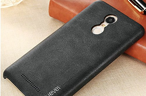 Bluebill Basic Xiaomi Redmi Note 3 Case , Luxury Vintage Leather Back Cover Phone Case for Xiaomi Redmi Note 3 - Black