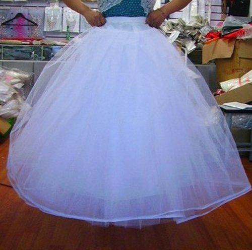 SODIAL(R) weiss 4 Schicht Tuell Hochzeit Ball Kleid Krinoline Petticoat jetzt bestellen
