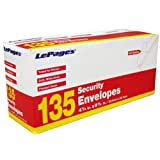LePage&amp;#39;s Seal It  #10 Security Envelope, 135 pack (GLD10406)