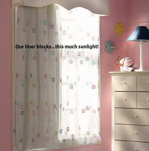 "Room-Darkening Blackout Drapery Liner 105""L 2-Pack"