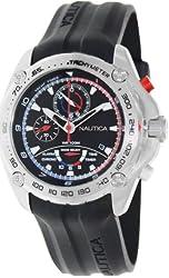 Nautica Men's Nst A29520G Black Rubber Quartz Watch