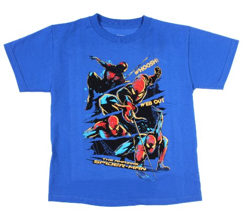 The Amazing Spider-Man Whoosh Web Out Glow in the Dark Boys Shirt