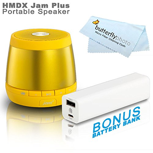 Hmdx Hx-P240Yl Jam Plus Portable Speaker - Allows You To Pair A 2Nd Jam Plus Speaker For True Stereo Sound (Yellow) + Free Bonus Photive 3000Mah Portable Battery Charger Power - Allows You To Charge Your Speakers Or Phone On The Go