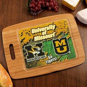 NCAA Missouri Tigers 15.25'' x 11'' Bamboo Cutting Board