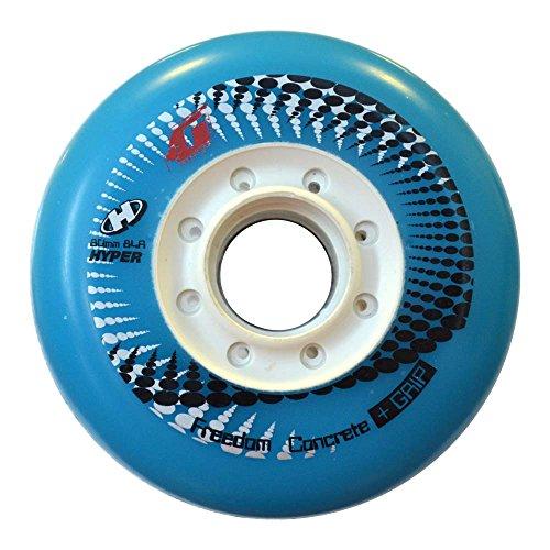 Hyper Concrete Plus G Limited Edition Inliner Rollen für Skates 80 mm/84a, Inline-skates-Komponente Sport & Freizeit, 4er Pack - Hellblau