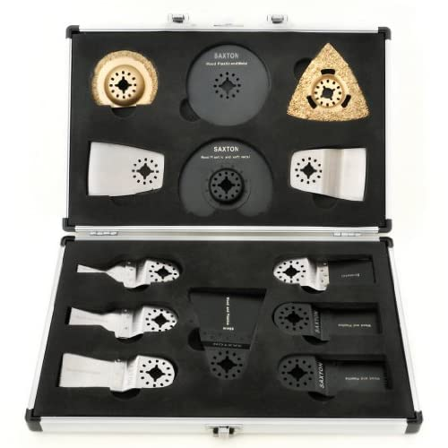 Saxton SH13CS01 13 Blades Case Set for Fein Multimaster Bosch Multitool