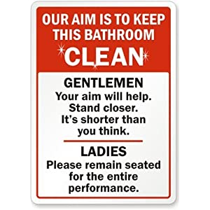 Our Aim Is To Keep This Bathroom Clean Gentlemen Your Aim Will Help On Popscreen