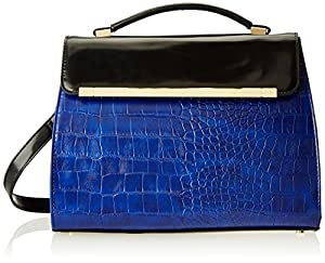 Ivanka Trump Colette Kelly IT1867 Top Handle Bag,Cobalt,One Size