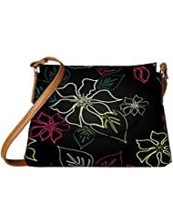 Snoogg Floral Sketch Designer Womens Carry Around Sling Bags