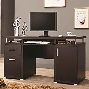 Amazon.com: Coaster Home Furnishings 800107 Contemporary Computer Desk