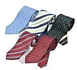 (メンズ ウーノ)men's uno 洗濯ネット付き 洗えるネクタイ フレッシュ 5本セット クレリックタイプ 1週間コーディネイト 撥水加工