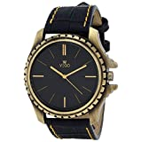 Vego Black Color Analogue Watch For Men's