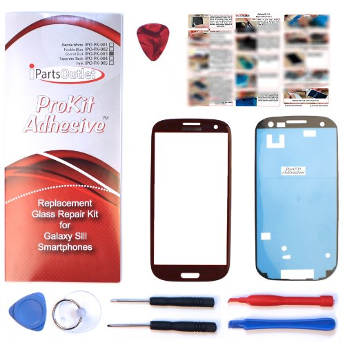 S3 Prokit For Samsung Galaxy S3 Screen Glass Lens Repair Kit Garnet Red For Samsung Galaxy S3 I9300 I747 T999 S3 Prokit Adhesive