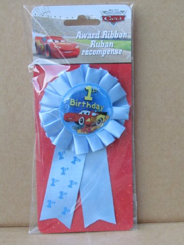 Disney Cars 1st Birthday Award Ribbon 1ct - 1