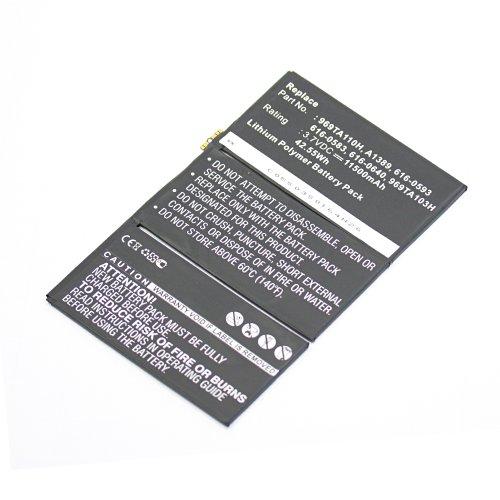 subtel Premium Akku (11500mAh) für Apple iPad 3 / iPad 4 (A1403 / A1416 / A1430 / A1458 / A1459 / A1460) / A1389, 616-0586, 616-0604
