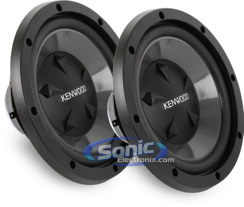 "Pair Of Kenwood Kfc-W112S (Kfcw112S) 12"" Single 8 Ohm Performance Series Car Subwoofers"