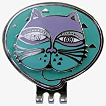 Adorable Blue Cat Ball Marker with matching Magnetic Hat Clip--Love My Cat!
