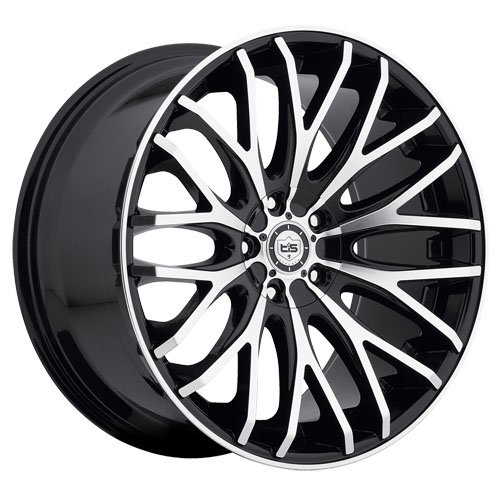 TIS Wheels 537Mb Mirror Machined Black Accents 22x10.5 5x115 5x120 25 Offset 74.1 Hub (Tis Wheels 537 compare prices)