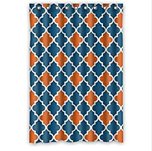 Best Seller Moroccan Orange And Navy Cornflower Blue Moroccan Til