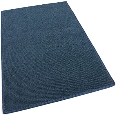 "DARK BLUE MULTI - Indoor/Outdoor Area Rug Carpet, Runners & Stair Treads with a Non-Skid Latex Marine backing and Premium Nylon Fabric FINISHED EDGES . Olefin , 3/16"" Thick + Medium Density. MANY SIZES and Shapes. Rectangles, Squares, Circles, Half Rounds"