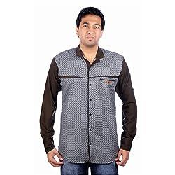 Aaduki Men's Casual Multi-Coloured Shirt-40