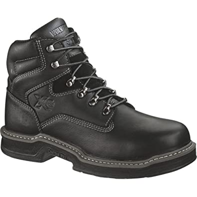 Wolverine Men's Raider 6 Inch Contour Welt ST EH Work Boot, Black, 7 M US