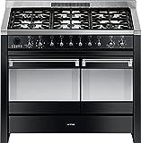 Smeg A2BL-8 100cm Black Opera Dual Cavity Cooker with...
