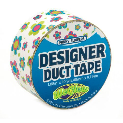 Just for Laughs Funky Flowers Designer Duct Tape (10-Yards)