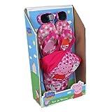 Peppa Pig Sun hat / Cap, Sunglasses and Flip Flop set.
