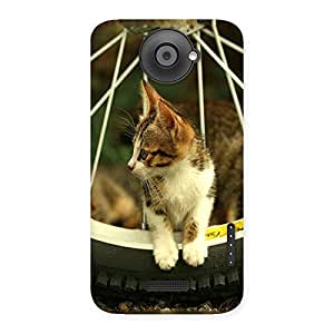 Ajay Enterprises Cat with Wheel Back Case Cover for HTC One X
