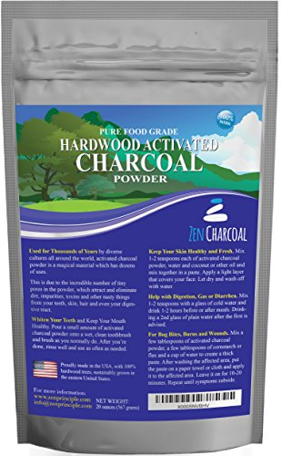 20 Ounces Activated Charcoal Energy only from USA Hardwood Trees. All Natural. Whitens Teeth, Rejuvenates Skin and Hair, Detoxifies, Helps with Digestion, Treats Poisoning. Unfastened Scoop Included.