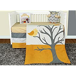 Snuggleberry Baby Nightie Night Owl 5 Piece Crib Bedding Set with Storybook