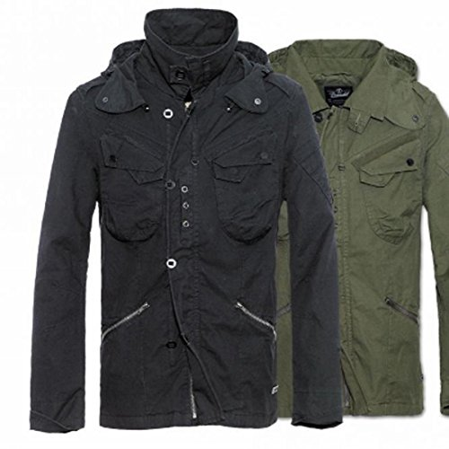 BYRON BRANDIT VINTAGE giacca da uomo downpour militare M65 stile militare giacca leggera da donna