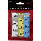 """Junipers 60"""" Soft Vinyl Tape Measures, Assorted Colors, Pack of 3"""